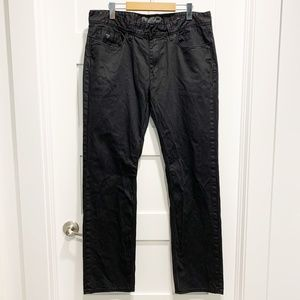 Guess Men's 36x32 Lincoln-Slim Straight Black Jean